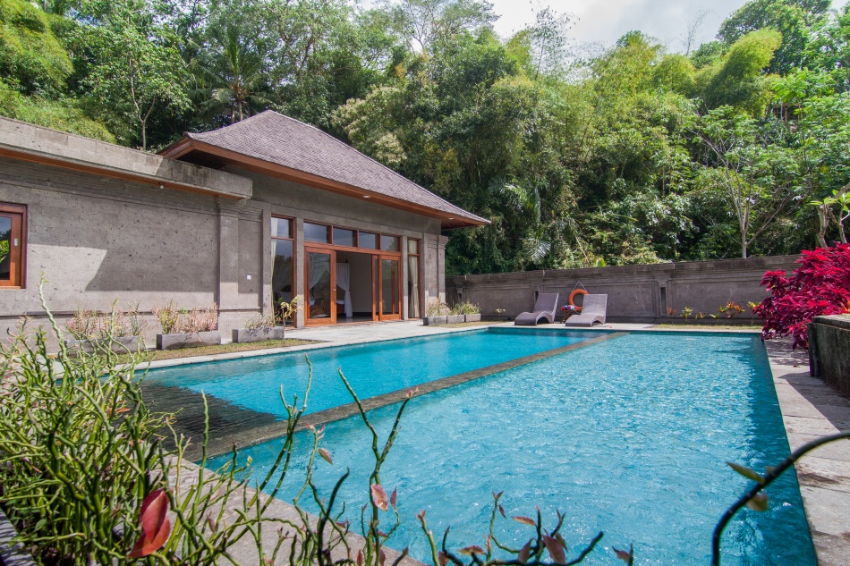 One bedroom garden pool villa for Garden pool villa ubud